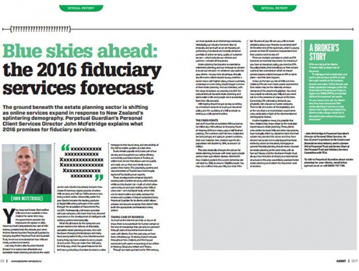 Blue skies ahead: the 2016 fiduciary services forecast