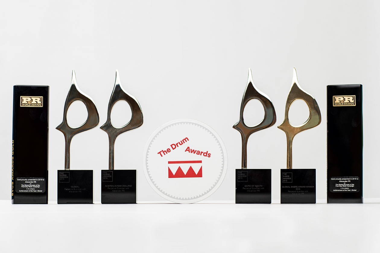 Alexander PR Alexander PR won seven  global awards in 2019 for their work with the four-day week campaign.