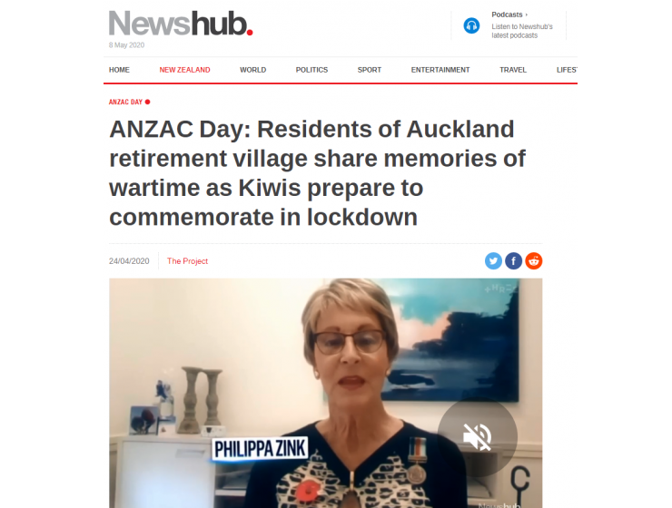 ANZAC Day: Residents of Auckland retirement village share memories of wartime