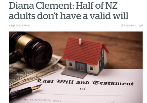 Alexander PR: Diana Clement: Half of NZ adults don't have a valid will
