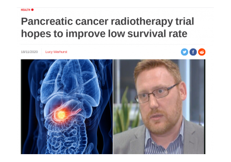 Alexander PR: Pancreatic cancer radiotherapy trial hopes to improve low survival rate