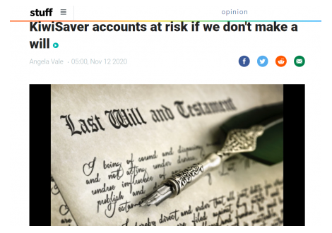 Alexander PR: KiwiSaver accounts at risk if we don't make a will